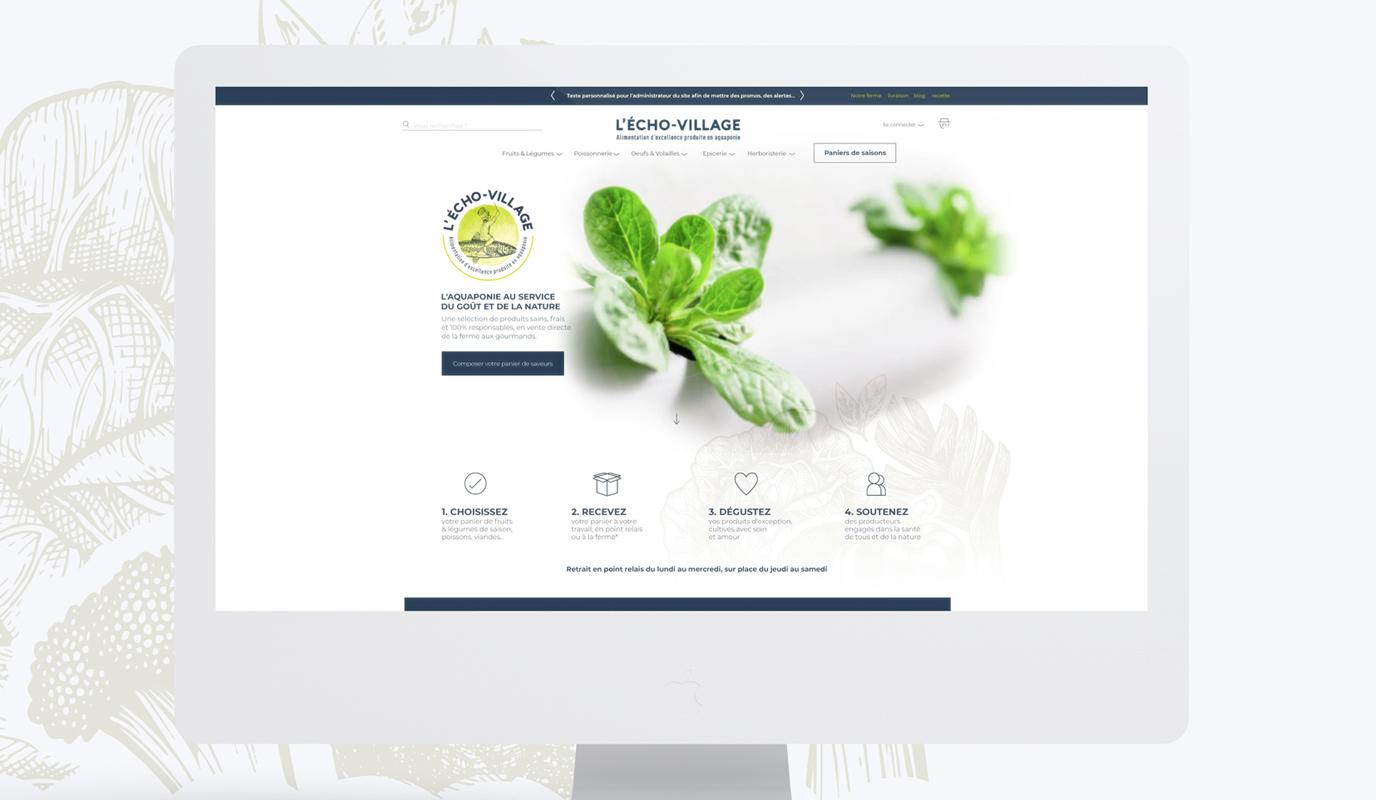 L'Écho-village   Site web e-commerce durable - Stratégie digitale