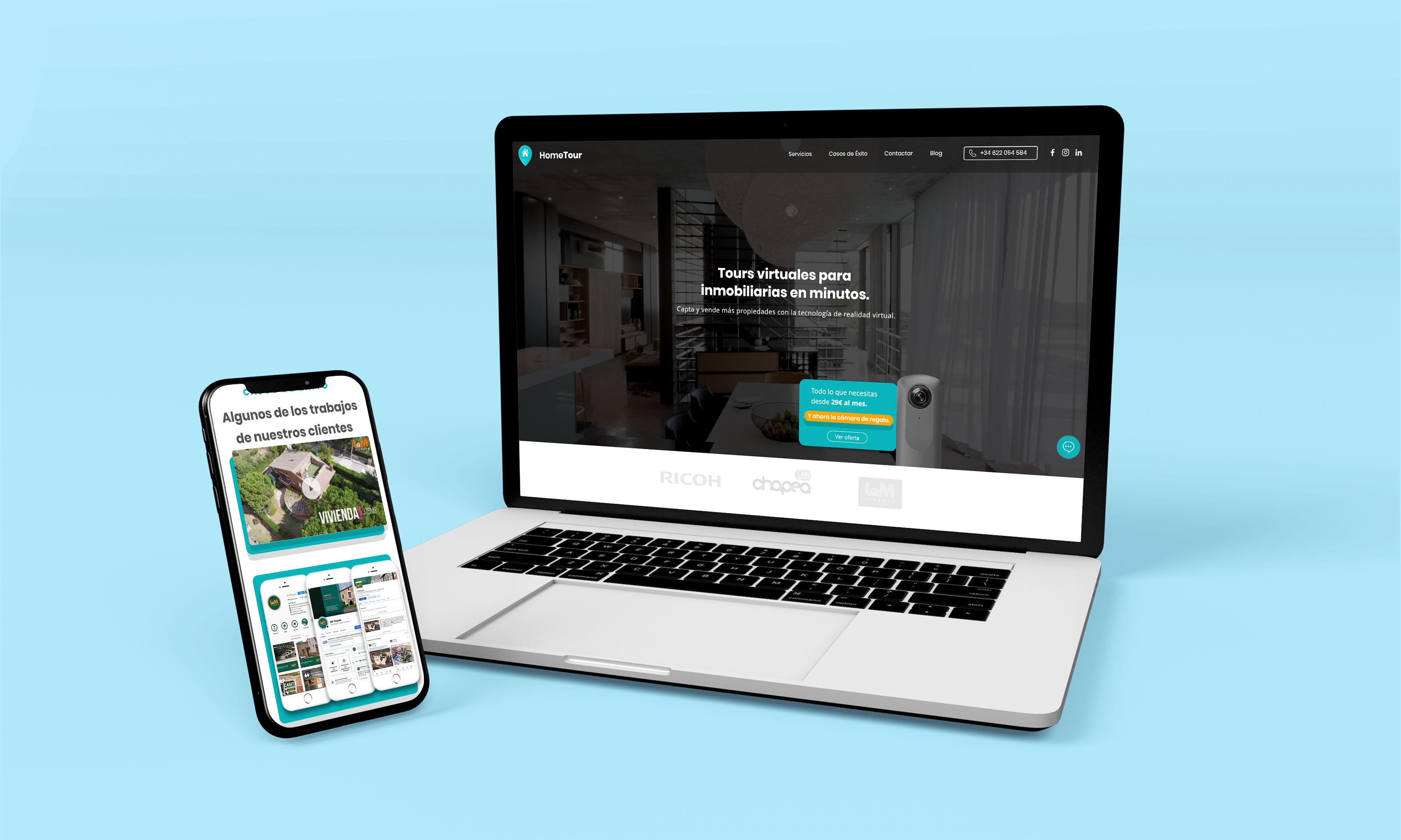 HomeTour   Rediseño web y mejoras UX - Creación de Sitios Web