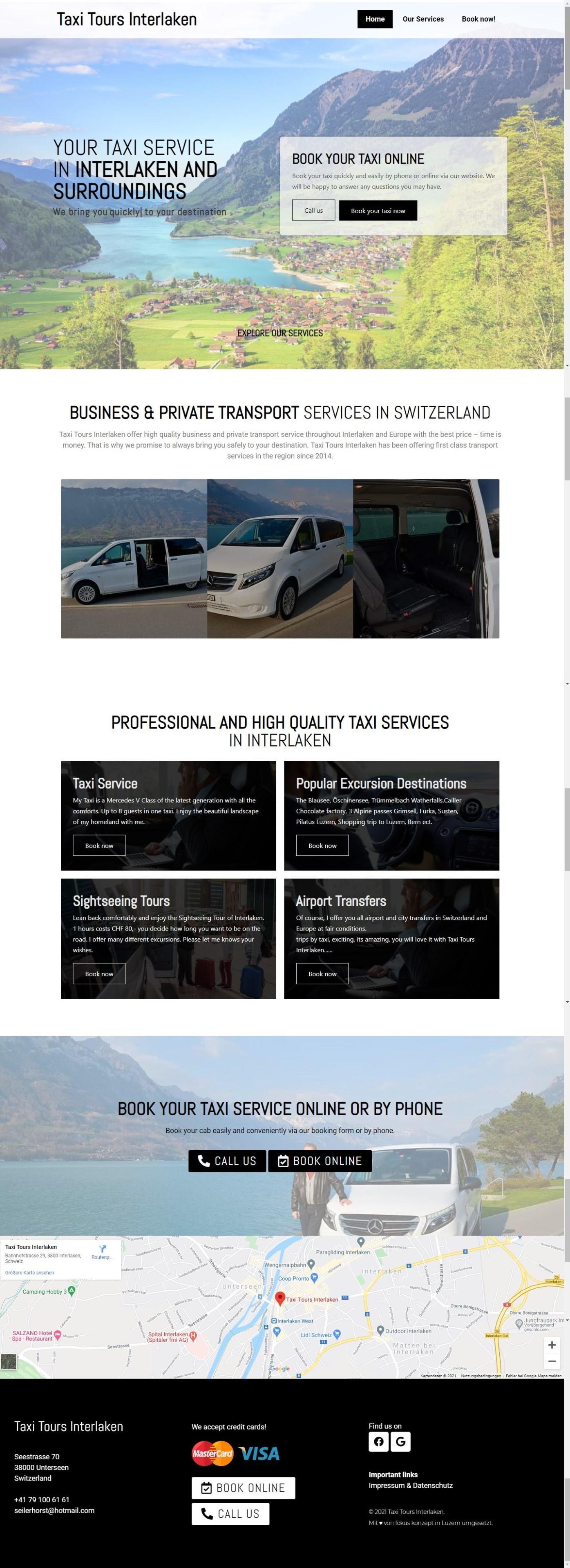 Taxi Tours Interlaken - Interlaken, Schweiz - Webseitengestaltung