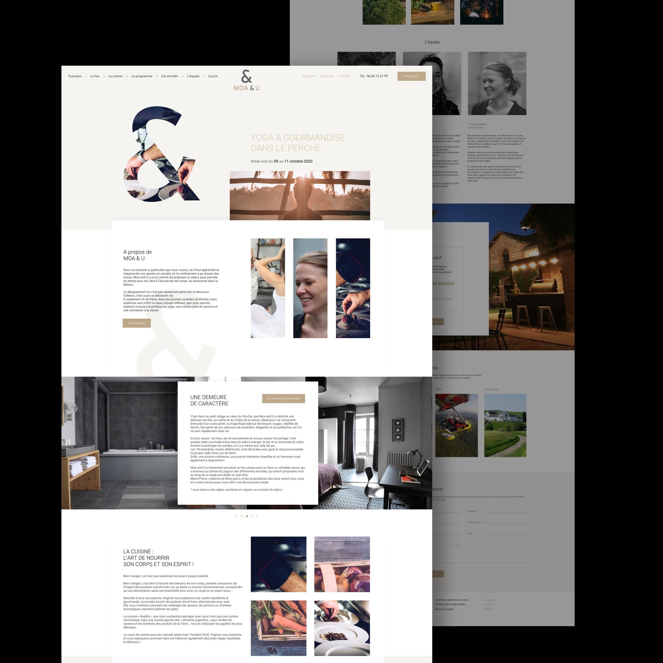 Moa & U – Site Vitrine // Voyage - Création de site internet